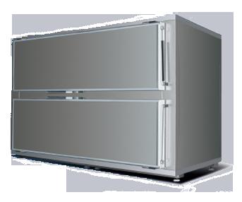 Холодильная камера для трупов на 2 тела, с боковым открыванием