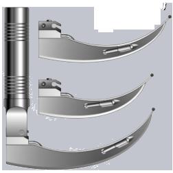 Ларингоскоп ламповый с изогнутыми клинками «Базовый-I», с автономным питанием Лл8 – «Медикон»