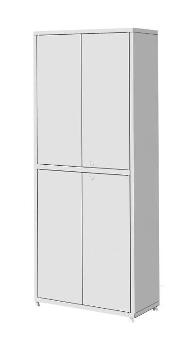 Шкаф металлический двухсекционный, двухстворчатый ШМ-04-МСК (верх – металл, низ – металл)