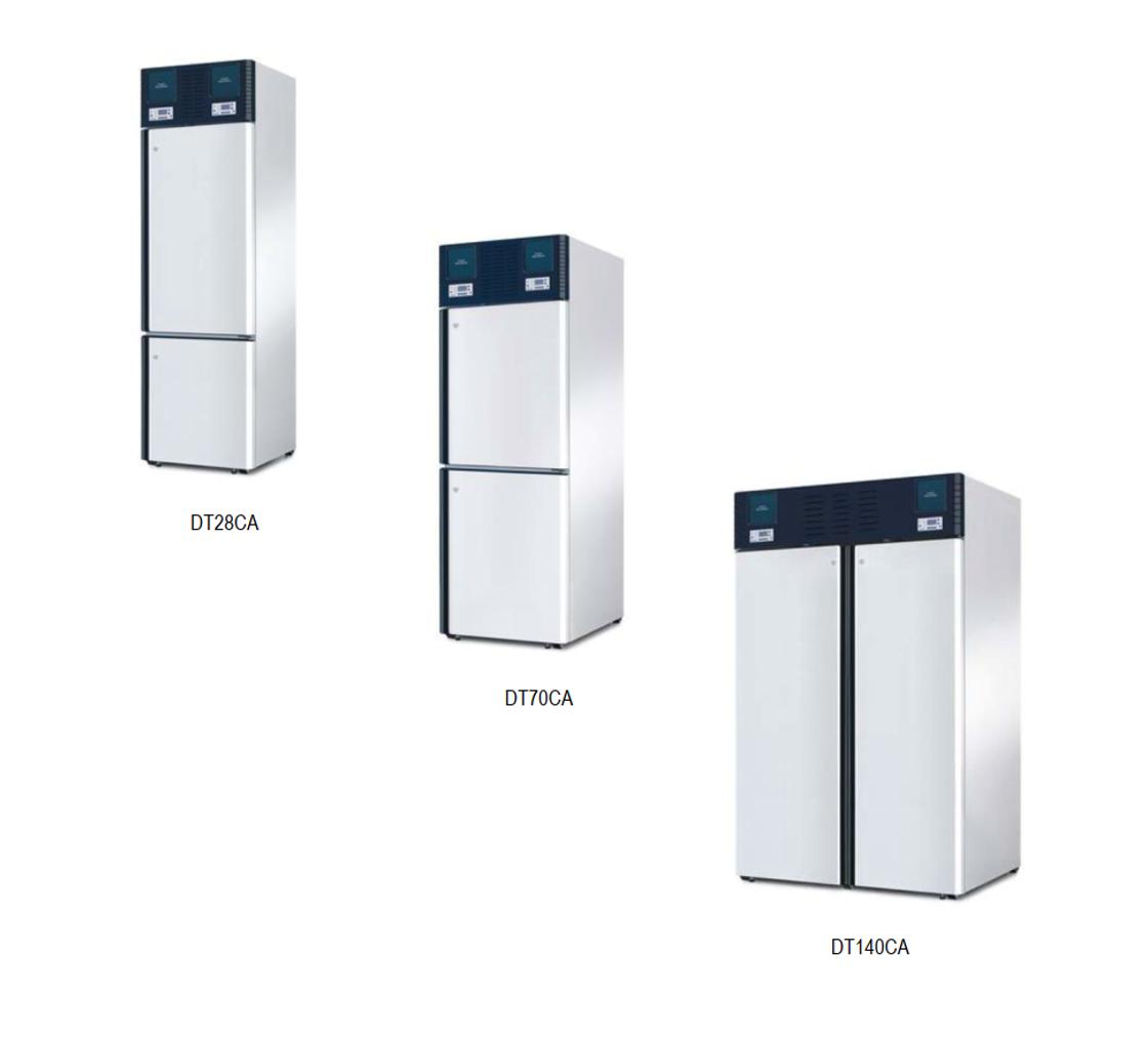 Холодильники комбинированные с морозильником профессиональные медицинские серии DT-C  Smeg (Италия)