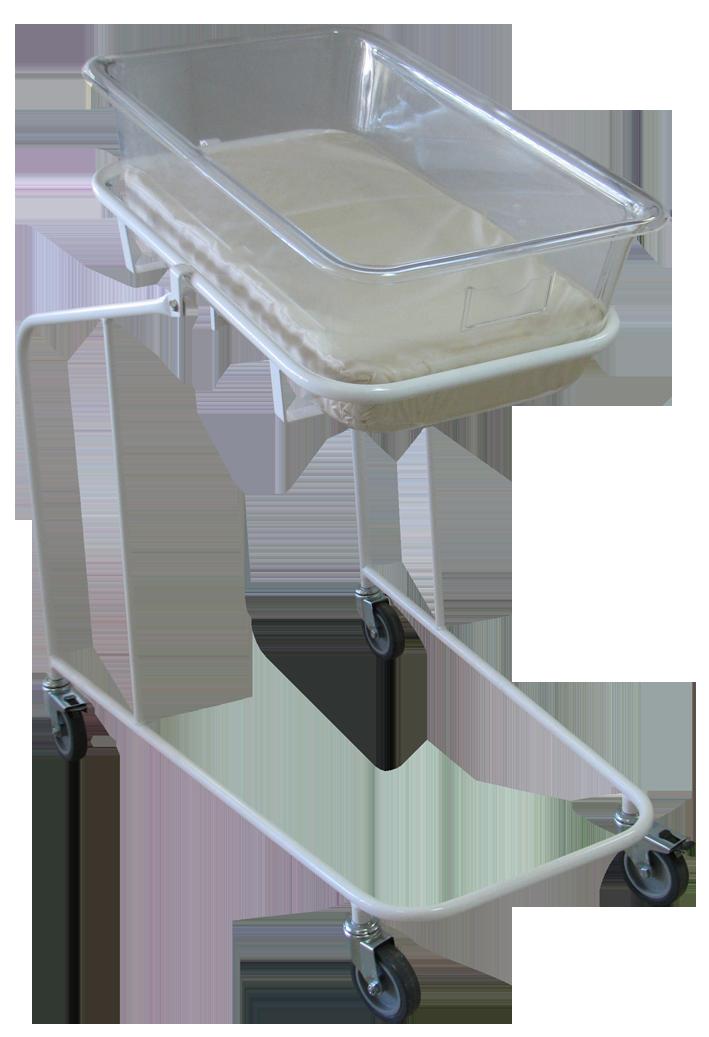 Кровать-тележка для новорожденных с пластиковым кювезом МСК-130