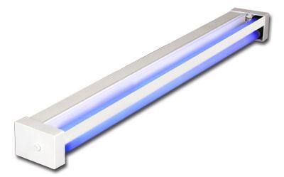 Облучатель бактерицидный с лампами низкого давления настенно-потолочный ОБНП 2х30-01 Генерис с одной экранированной лампой