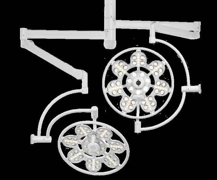 Светильник ЭМАЛЕД 500/500 двухкупольный операционный потолочный
