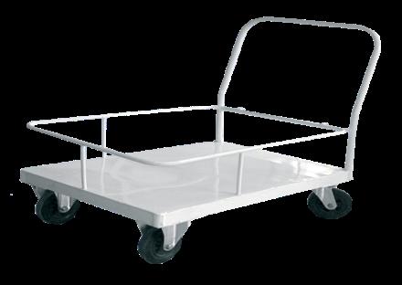 Тележка межкорпусная для перевозки медицинских грузов с одной ручкой и съемным ограждением МСК-509